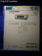 Sony Service Manual TC S9 Cassette Deck (#6606)