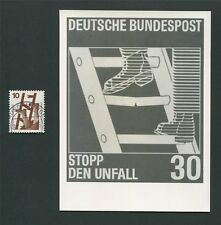 BUND FOTO-ESSAY 695 DAUERSERIE UNFALL 1971 PHOTO-ESSAY PROOF RARE!! e09