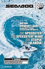 Sea-Doo Owners Manual Book 2007 200 SPEEDSTER & 200 SPEEDSTER WAKE
