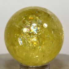 31mm Rainbow Citrine Sphere Natural Yellow Quartz Crystal Ball Mineral Stone