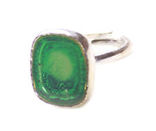 Electric Green Translucent Enamel Window/ Adjustable Chrome Hand Ring(Zx177)