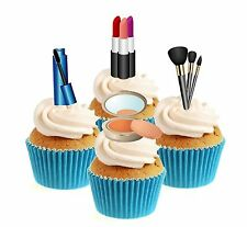 Novelty Make Up Collection 12 Edible Stand Up wafer paper cake toppers
