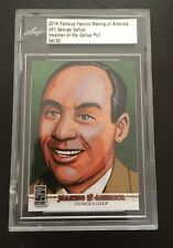 GEORGE GALLUP - #'d/30 - RARE - 2014 Leaf Famous Fabrics Making of America