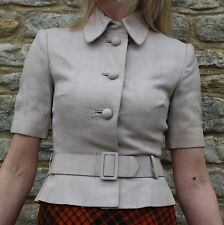 Vintage Rare Numbered Christian Dior 'Diorling' Harrods Tailored Linen Jacket 8