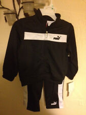 NWT Puma Zippered Jacket AND Sweat Athletic Pants Size 18 Months Black