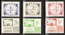 K501)Jersey Porto Mi.-Nr.1-6 **, Portomarken, kpl. Satz, postfrisch!!