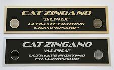Cat Zingano UFC nameplate for signed mma gloves photo or case