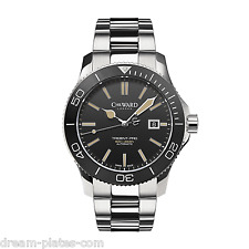 Christopher Ward C60 Trident Vintage 600 43mm auto Swiss watch 42 black face
