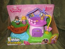 Fisher Price Little People Disney Princess Rapunzel Tower Flynn boat NEW Box toy