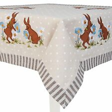 Clayre & Eef Tablecloth Easter decoration blanket Natural colours ca. 85 85cm