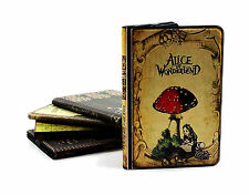 For iPad 2 3 4 Authentic Vintage Classic Alice In Wonderland Book Case Cover