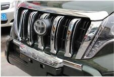 Chrome Front Grille Shinny Cover Trim 6pcs For Toyota Prado FJ150 2014 2015