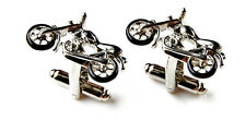 Motorcycle Cufflinks - Groomsmen Gift - Men's Jewelry - Gift Box