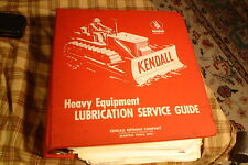 Vintage KENDALL MOTOR OIL Heavy Equipment LUBRICATION SERVICE GUIDE A-Z +