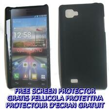 Pellicola + custodia BACK COVER NERA rigida per LG Optimus 4X HD P880