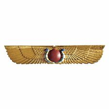 Ancient Egypt Egyptian Theme Winged Sun Disk Wall Hanging African Art Sculpture