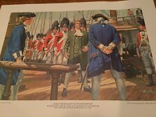 TWO MORT KUNSTLER PRINTS John Jay's Aide Captured/Signs Treaty De Witt Clinton