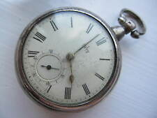 Antique Silver fusee pair cased pocket watch .Innes New Maud
