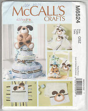 6524 McCALLS Crafts - BABY SHOWER ITEMS - PUPPY DOG Theme - DIAPER CAKE