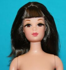 Vintage BARBIE Reproduction NUDE Brunette FRANCIE ROOTED LASHES Doll Stand MINT