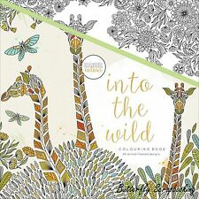 INTO THE WILD Adult Coloring Book For Markers Watercolors Pencil KAISERCRAFT New