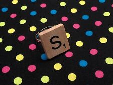 Scrabble Tile Letter Ring...Retro / Vintage / Kitsch *CHOOSE ANY LETTER*