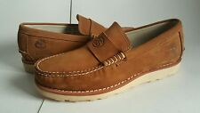 STUSSY x TIMBERLAND LOAFER MOC MOCCASIN DELUXE VIBRAM BROWN BEIGE 89591 sz. 9 DS