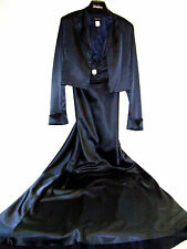 Mary. L Couture 2 Piece Navy Halter Evening Dress Gown with Jacket Size 14