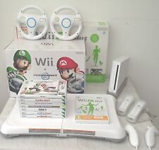 WII CONSOLE  MARIO KART EDITION+WII FIT BOARD+GAMES+A FREE YEARS WARRANTY