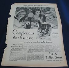 1933 LUX SOAP ADVERT TRUE STORY MAGAZINE LORETTA & POLLY ANN YOUNG SALLY BLANE