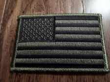 U.S AMERICAN FLAG ARM PATCH SUBDUE OD GREEN