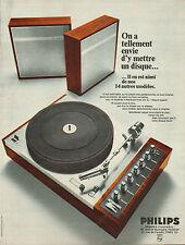 Publicité 1968  PHILIPS  électrophones tourne disques hifi