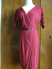New Max Studio women's raspberry viscose dress size medium retail value $98