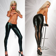 Sexy Womens Bondage High Tight Stocking Faux Leather Stockings Clubwear Lingerie