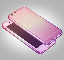 360° Double Colors Clear Silicone Gel Shockproof Case Cover For iPhone 6S 6 Plus