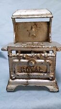 ANTIQUE Miniature CAST IRON DOLL STOVE Royal Lone Star     #34