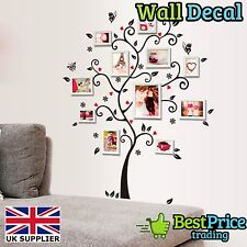 Family Photo Frame Tree Mural - Vinyl Wall Decal Sticker Home Decor *Lounge Hall