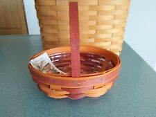 Longaberger 2016 Halloween Whatnots Booking basket in Orange! & protector NEW