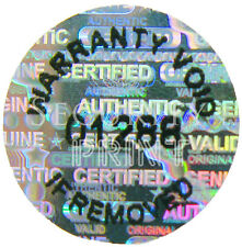 "132qty VOID, numbered, Hologram Holographic stickers labels 12mm (1/2"") C12-1S"