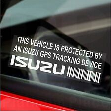 5 x ISUZU - Truck GPS Tracking Device Security Stickers-Van,Car Alarm Tracker