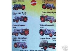 Älteres Blechschild Eicher Traktor Schlepper Reklame Werbung gebraucht used