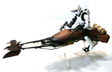 "STAR WARS 12"" 1/6th scale BIKER SCOUT & SPEEDER BIKE Poseable toy figure, RARE"
