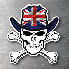 Union Jack flag & skull sticker quality10 year water & fade proof vinyl England