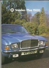 VANDEN PLAS 1500 brochure JANVIER 1978