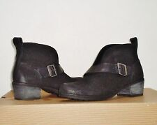 UGG Women's WRIGHT Belted Ankle Boots 7.5US BLACK SUEDE/Leather NWOB $165 MSRP