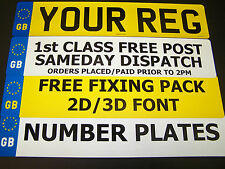 CAR NUMBER PLATES 3 PLATES SAME REG GB/EU REGISTRATION PLATES MOT LEGAL