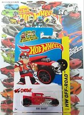 Hot Wheels 2014 #117 Bone Shaker™ RED,1stCOLOR,VARIANT-NEW HW LOGO STAMPED,INTL