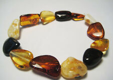Real Baltic Amber Bracelet  Elastic Stretch