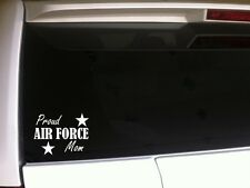 "Proud Air Force Mom Car Decal Vinyl Sticker 6"" F37 Soldier Troops Pride Military"