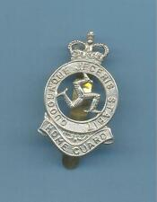 ISLE OF MAN HOME GUARD.WHITE METAL ARMY CAP BADGE